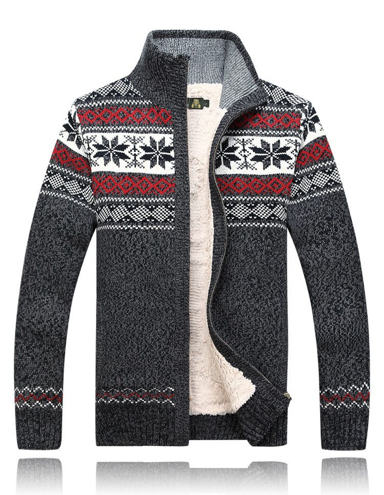 Men Sweater Fashion Autumn Winter Wool Cardigan Men\'s Casual Thick Warm Sweater Male 2016 AFS JEEP Knitting Sweter Hombre M-3XL  (5)