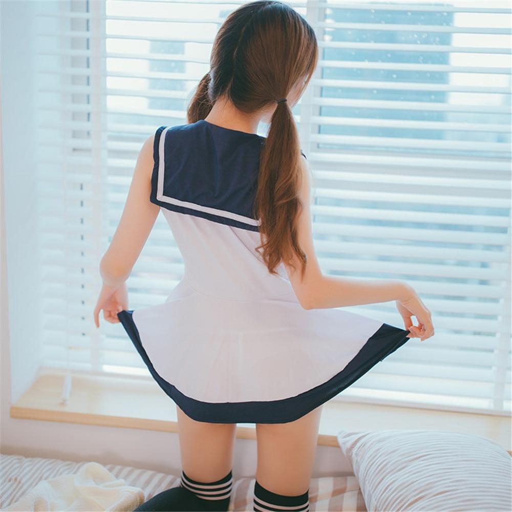 Image 3 - Japan/Korean School Uniforms Sexy Cute Women/Girl Sailor Suit JK Student Clothing Sets dress+Panties One sizeHolidays Costumes   -