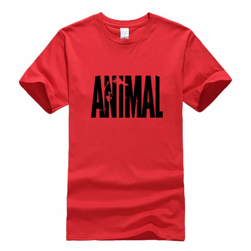Animal print Casual t shirt Mens t-shirt muscle Tendenze in 2016 cotone marca vestiti di fitness per gli uomini bodybuilding Tee grande XXL