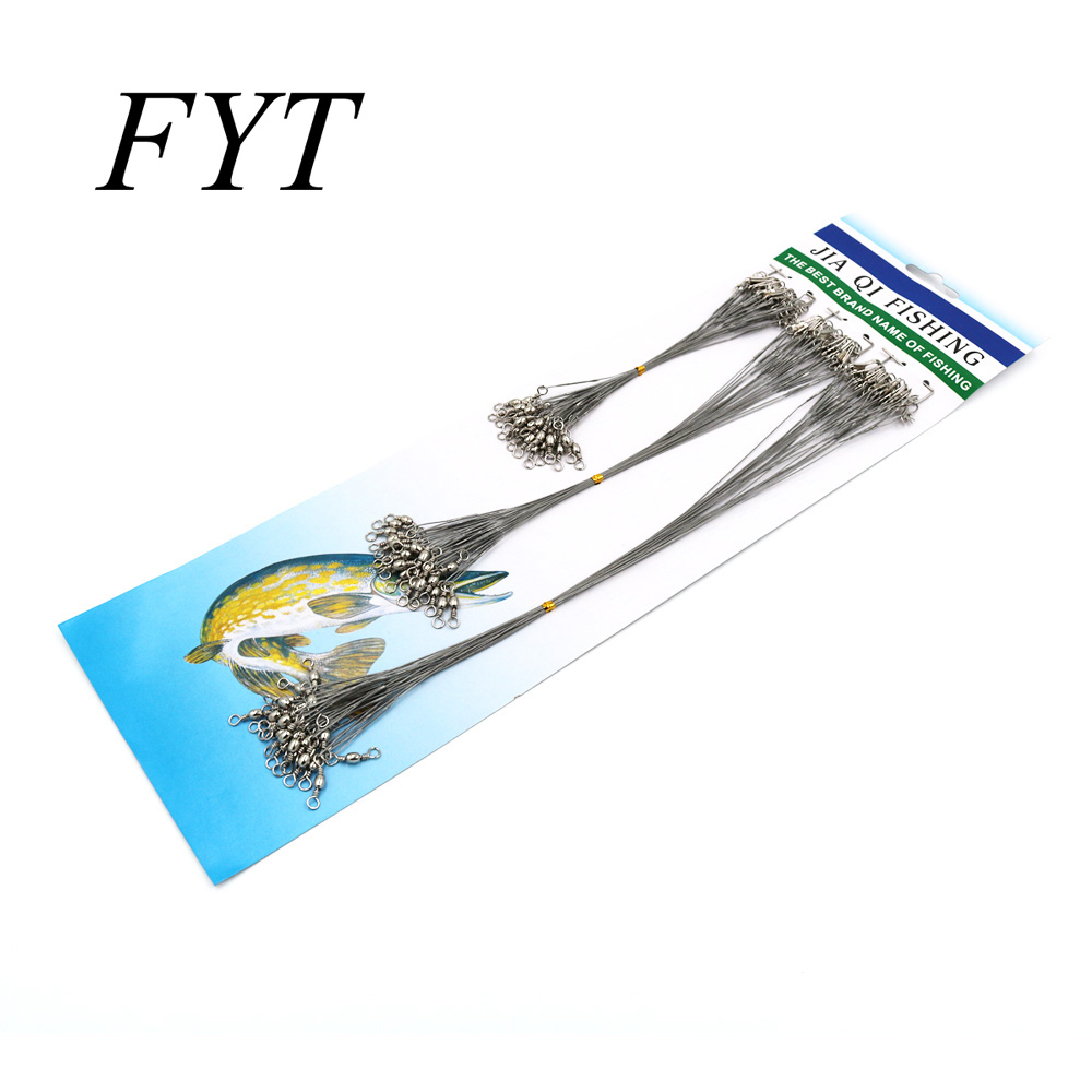 72Pcs/pack Fishing Lines With swivel connector lure ring wire Spinner  fishing lure line 15CM 23CM 30CM FL-G72 line art