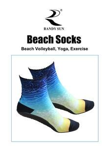 Beach-Socks Sun-Volleyball Water RANDY Non-Slip Seamless 2-Pairs Quick-Dry Swimming