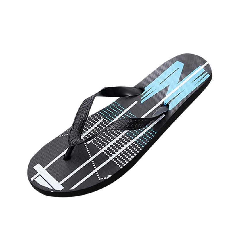 Summer Fashion Men's flip flops Beach Sandals for Men Flat Slippers non-slip Shoes plus size 40-44 Sandals 2018 Good Quality