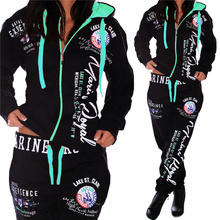 ZOGAA ファッション女性トラックスーツプラスサイズ S 3X カジュアルツーピーススエットシャツとパンツセット汗スーツ Womem 衣装