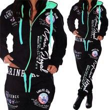 Zogaa moda feminina agasalho plus size S 3X casual conjunto de duas peças com capuz moletom e calças define terno de suor womem outfit