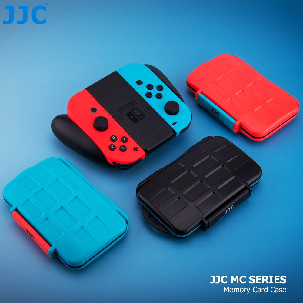 JJC Water-Resistant Memory Card Case Storage for Joy-con Switch Controller Nintendo Switch Game Card Micro SD Card Box