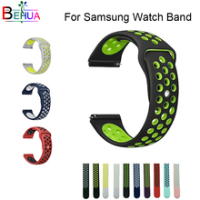 Rubber Strap for Samsung Gear S3 S2 sport Frontier Classic Silicone for galaxy Watch 42mm 46mm Band huami amazfit bip 22mm 20mm 20mm 22mm sports silicone band for samsung galaxy 46mm 42mm s3 s2 classic gear sport strap for huami amazfit bip huawei watch 2