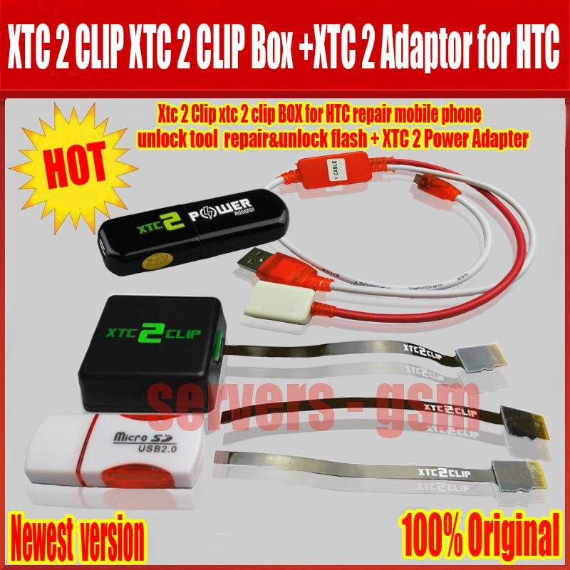 2018 La dernière version xtc 2 clip xtc clip Boîte + xtc 2 adaptateur et Y câble et 3 dans 1 Flex câble et pour HTC Livraison gratuite