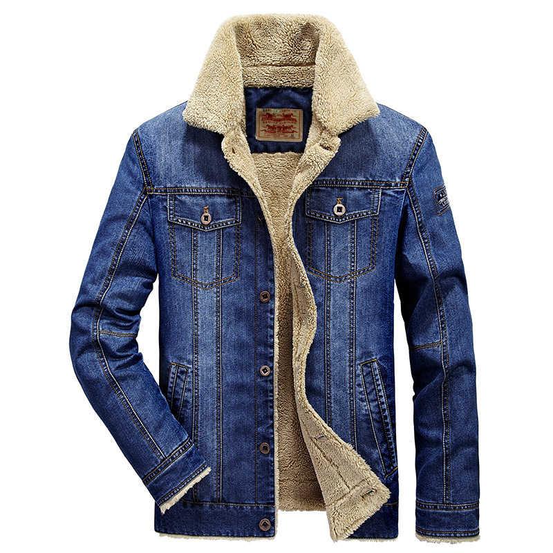 デニムジーンズ冬ジャケットプラスベルベットプラスアジアサイズ M-6XL 服