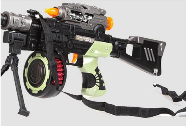 Recommend Developed Electric Toy Guns Acoustooptical Submachine Gun Toy Boy Toy Sniper Rifle Hotchkiss   Toys For Children