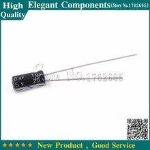 50ピース25ボルト/10 ufアルミ電解コンデンササイズ4*7ミリメートル10 uf 25ボルト電解コンデンサ25ボルト10 uf