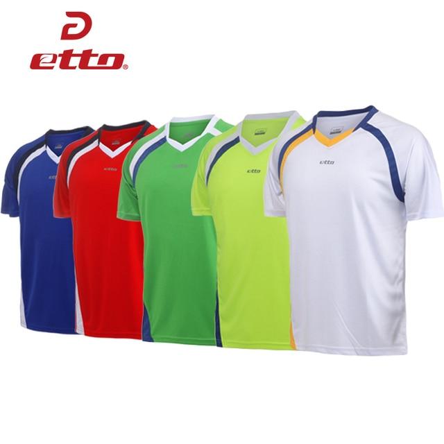 Etto Professional Men Short Sleeve Soccer Jersey Team Training Uniform Kids  Boys Football Match Shirt Quick Dry S~4XL HUC004 be80c09a1