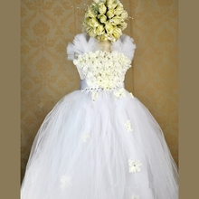 2-8T Custom made Super beautiful Dresses for girls/Children clothing Flower Girl dress Children's holiday performances costume