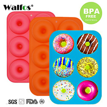6 Holes Donuts Mold of Silicone Round Shape Baking Jelly Fondant Chocolate Cake Decorating Cooking Tool Pastry