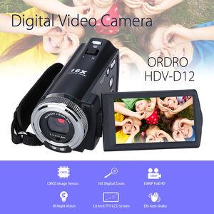 Image 2 - Видеокамера ORDRO full hd 1080P, видеокамера 4 k 16x Zoom, камера ночного видения filmadoras DVR IR