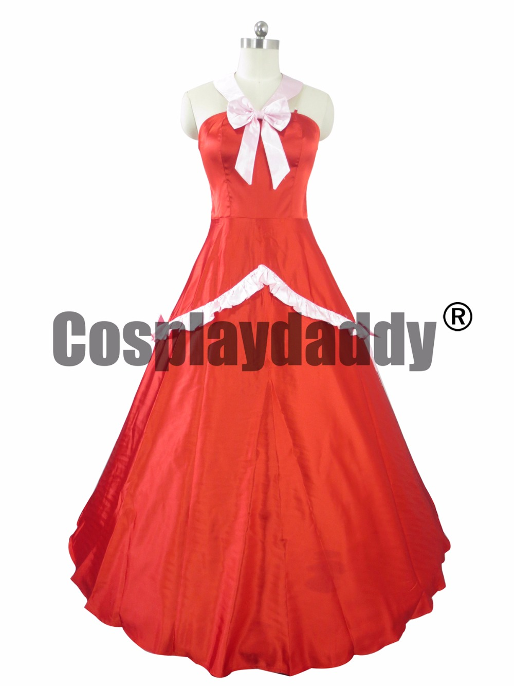 Fairy Tail S-Class Mage Mirajane Strauss Red Dress Usual Outfit Cosplay Costume C018