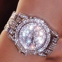 נשים שעוני יוקרה אופנה שעונים אוסטריה קריסטל יהלומים מלאכותיים אישה שעונים נקבה קרמיקה שעוני יד קוורץ ליידי בנות צפו