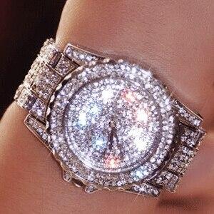 Image 1 - Роскошные женские часы, модные женские Стразы, часы с австрийским кристаллом, керамические часы, женские кварцевые наручные часы, женские часы под платье