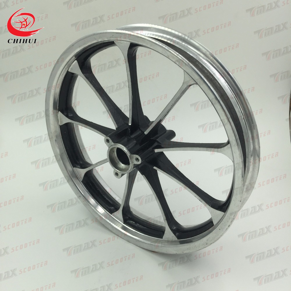 Scooter Wheel Hubs 2.75-10 Rear Wheel Rims Aluminium Alloy Wheel Hub for 2.75-10 Tubeless Tyre (Scooter Parts & Accessories)