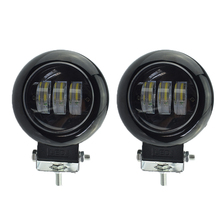 1pair motorcycle 12V 50W led headlights 6500K 4000lm high bright auxiliary driving font b lamp b