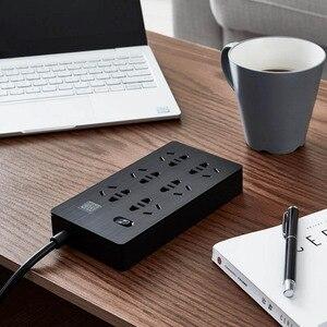 Image 2 - YOUPIN Airgo כוח רצועת 6 יציאות 3 USB הארכת 6 שקע 3 USB תשלום מהיר 5V 2.1A Аor בית ונסיעות
