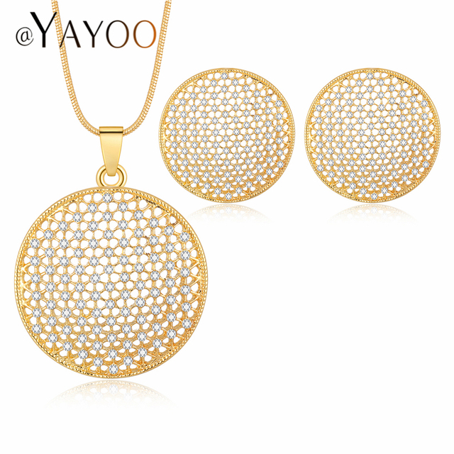 AYAYOO Jewelry Sets For Women Gold Color African Beads Jewelry Set Wedding Dubai