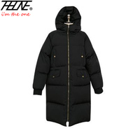 THHONE Women S Winter Jacket Long Parka Down Coat Fashion Warm Outwear Hooded Thick Padded Coats