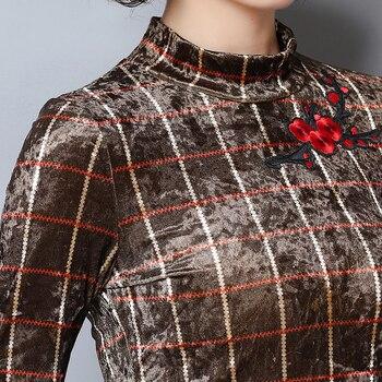 плюс размер золотой топ   Высокое качество осень золото бархат Топы с длинным рукавом рубашки для женщин Модный тонкий пуловер Плюс большой размер низ футболки выши...