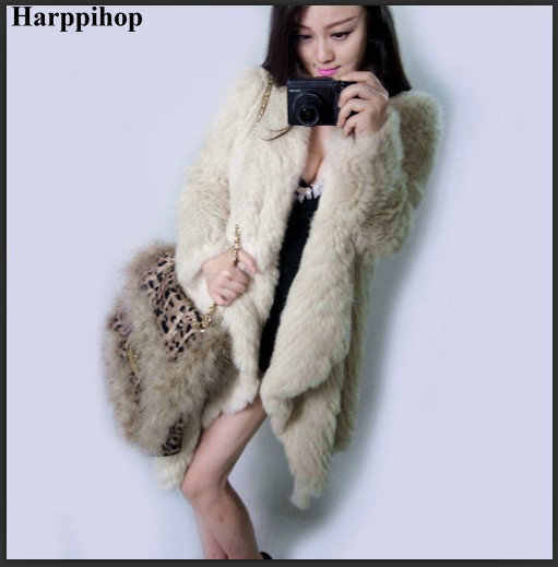 2018 Yeni Marka kadın Kış tavşan kürk ceket Sıcak Satış 4 renkler örgü gerçek kürk ceket