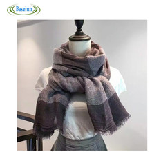 Hot Sale Winter 2016 Ladies Tartan Plaid Scarf New Designer Warm Women Cotton Fashion Shawls Women's Patchwork Scarves