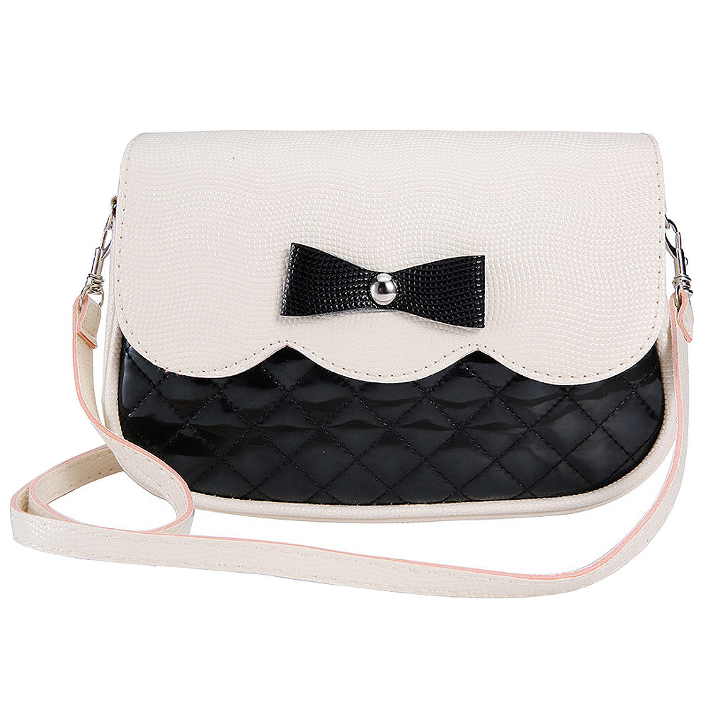 Feitong Lovely Women Bowknot Handbags Shoulder Bag 2017 Fashion Ladies Splice Color Crossbody Messenger Bag bolsas femininas
