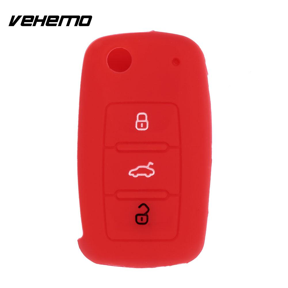 3Button Durable Beautiful Car Key Set Case Shell Auto Flip Remote Car Key Cover for POLO GOLF Skoda Vehicle