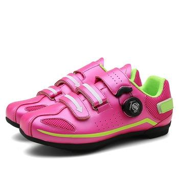 Breathable Non-Lock Cycling Shoes Men Women Non-slip Rubber Soles Road Mountain Bike MTB Shoes EU Size 36-44 Four Colors