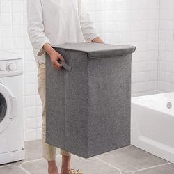 Duży zmywalny kosz na brudne ubrania gospodarstwa domowego proste przechowywania kosz na bieliznę sypialnia na ubrania wiadro składane w Kosze na pranie od Dom i ogród na