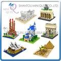 7 unids/lote Mini Qute LOZ World architecture 7 estilos Esfinge diamante escala de bloque de construcción de plástico modelo de juguetes educativos
