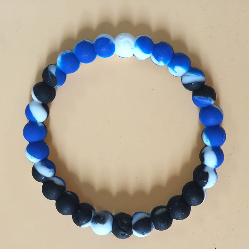 Fashion Shark Rainbow Water Drops Blue Seaside Style Black and White Yin and Beads Beaded Bracelets Men and Women Kids Hot Sale