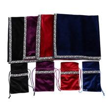 Retro tarjetas de Tarot bolso de tela de mesa Junta mantel para juego de adivinación de terciopelo