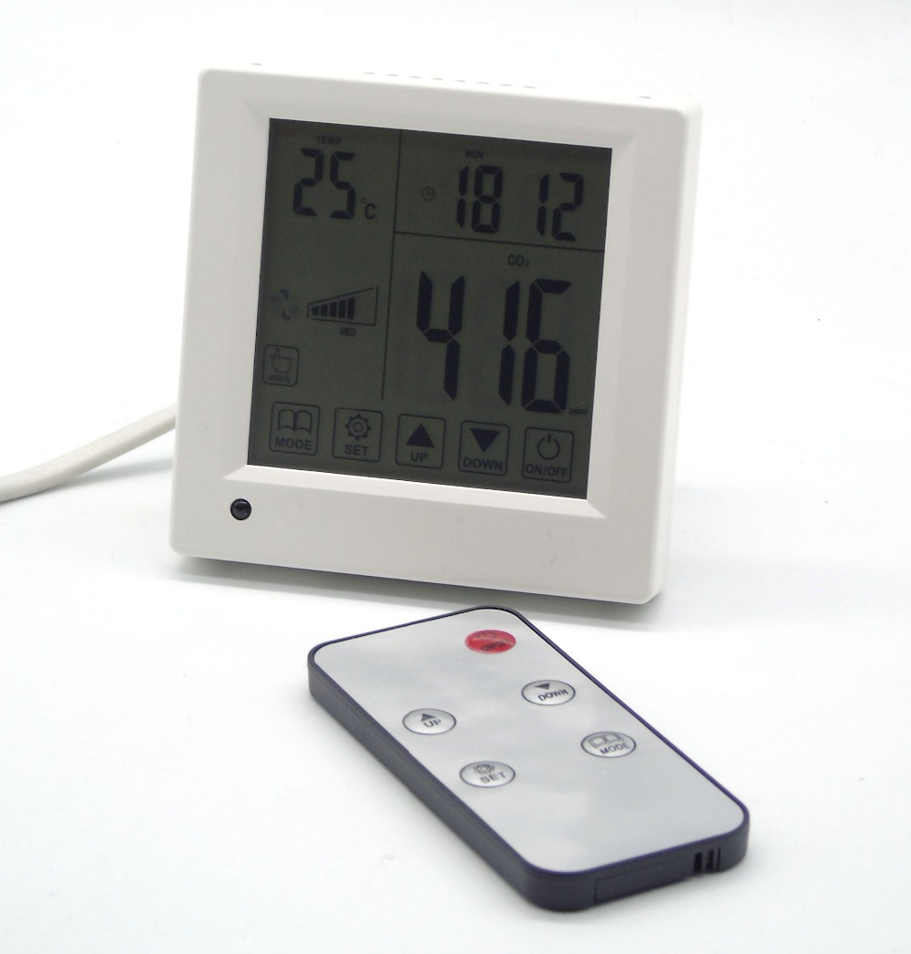 Indoor Volatile gas CO2 air quality monitor for office, conference room