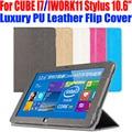 Для CUBE I7 Stylus 10.6 Case Luxury ИСКУССТВЕННАЯ Кожа Флип крышка планшетного пк Стенд Чехол Для IWORK11 STYLUS 10.6 ДЮЙМОВ CB11