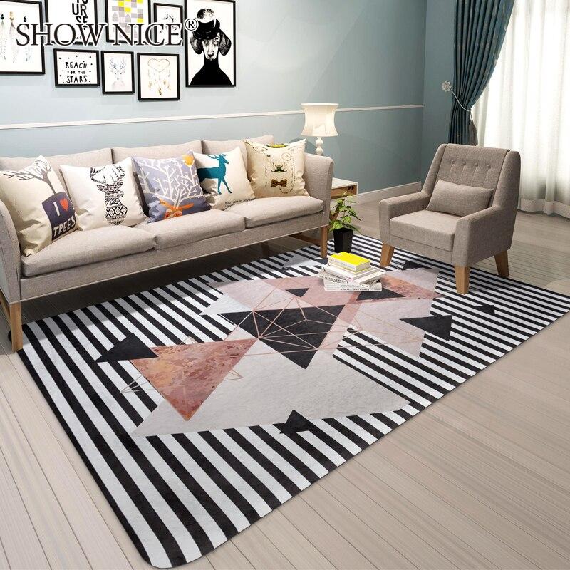 Tapis modernes géométriques simples pour salon chambre enfants tapis de jeu enfant bain antidérapant tapete bébé ramper tapis doux/tapis