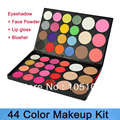 Free Shipping Pro High Quality  44 Color Makeup Set Eye Shadow Palette/Blusher/Lip gloss/Face Powder foundation/Concealer