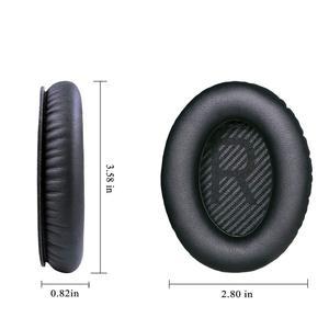 Image 3 - Wantek Auricolari di Ricambio per le Cuffie Bose QC35 QC25 QC15 Ae2, Ae2i, Ae2w Tranquillo Comfort 25, stampa, Nero con Bule (1 Coppia)