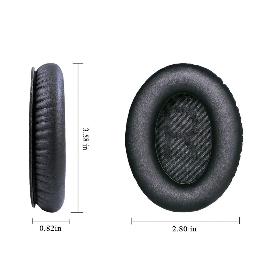Wantek Ear Pads Replacement for Bose Headphones QC35 QC25 QC15 Ae2 Ae2i Ae2w Quiet Comfort 25 Printing Black with Bule 1Pair in Earphone Accessories from Consumer Electronics