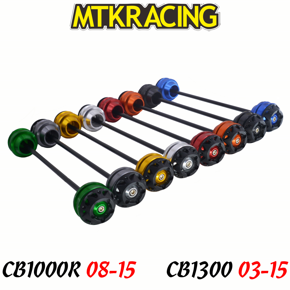 MTKRACING For Honda  CB1000R 08-15  CB1300 03-15  CNC Motorcycle Front rear wheel Axle Slider shock absorber Falling ProtectionMTKRACING For Honda  CB1000R 08-15  CB1300 03-15  CNC Motorcycle Front rear wheel Axle Slider shock absorber Falling Protection
