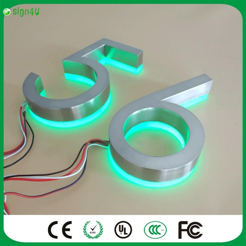 ФОТО Customize LED lighting House number