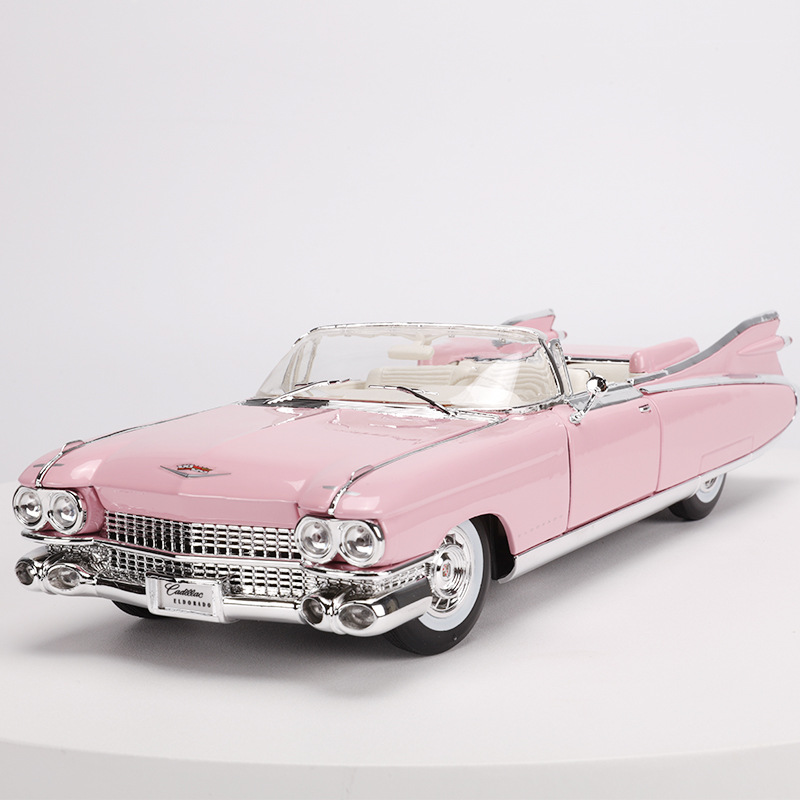 1:18 symulacja ze stopu model samochodu sportowego zabawki dla Cadillac Elvis z KIEROWNICA sterowania przedniego koła zabawka kierownicy dla dzieci w Odlewane i zabawkowe pojazdy od Zabawki i hobby na  Grupa 1