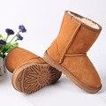Мальчики Девочки Ботинки Меха Зимой 2016 Детская Обувь Из Натуральной Кожи Дети Детские Австралия Сапоги для Девочек Пинетки Ботинки Снега