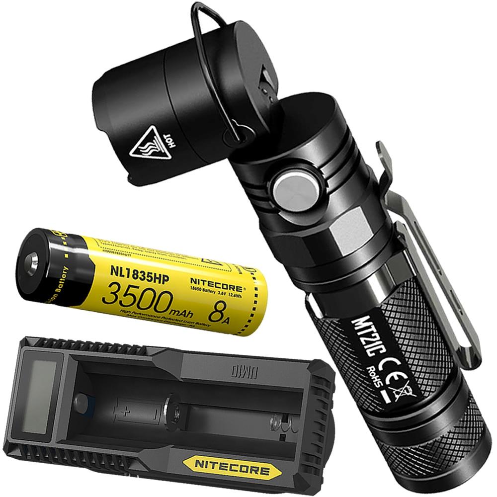 Top Sales Free Shipping NITECORE MT21C 18650 Battery UM10 USB Charger Multi functional 1000LM LED Flashlight