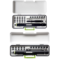 30pcs Precision Electric Screwdriver Set Disassembly Repair Kit Aluminum 260MAH Electric Screwdriver Set