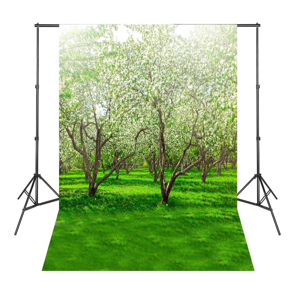 Weiße Blume-Baum-Hintergrund-Fotografie-Hintergrund-Vinyl-Studio - Kamera und Foto