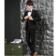 Latest men's ball gown wedding best man suit the groom dress elegant fashion men three-piece suit (jacket + pants + vest)
